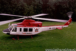 April 1992 - The Agusta-Bell 412 HB-XVU in service with Helimission (HAB)
