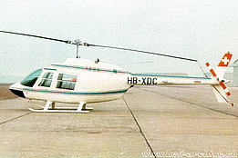 Cascina Costa/Italy, 1970 - The Agusta-Bell 206A Jet Ranger HB-XDC ready to be delivered to Nairag AG (HAB)