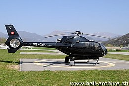 Lugano-Agno/TI, March 2012 - The EC 120B Colibrì HB-ZMH in service with Airport Helicopter AHB (www.airphototicino.ch)