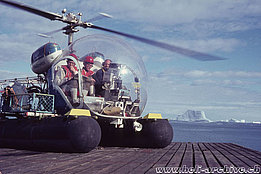 Greenland, summer 1969 - The Agusta-Bell 47G3B-1 HB-XCI in service with Heliswiss piloted by Jean Seydoux (HAB)
