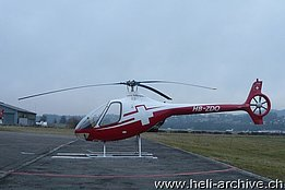 Belp/BE, February 2014 - The helicopter Guimbal Cabri G2 HB-ZDQ in service with Swiss Helicopter (M. Bazzani)