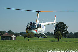 Sitterdorf/TG, August 2005 - The Robinson R-44 Raven II HB-ZGZ in service with Valair AG (K. Albisser)