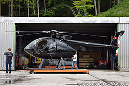 Schindellegi/SZ, June 2016 - The MD 530F HB-ZSR in service with Fuchs Helikopter (M. Bazzani)