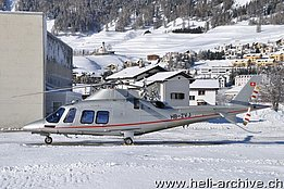 Samedan/GR, December 2013 - The AW109SP HB-ZVJ in servce with Swiss Helicopter AG (T. Schmid)