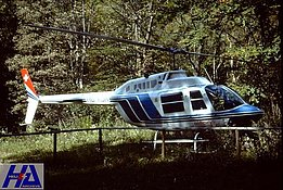 Val Colla, April 1996 - The Bell 206A/B Jet Ranger II HB-XDH photographed during its short period of service with Eliticino (M. Bazzani)