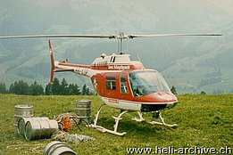 1975 - The Agusta-Bell 206B Jet Ranger 2 HB-XDP in service with the Swiss Air Rescue Guard (HAB)
