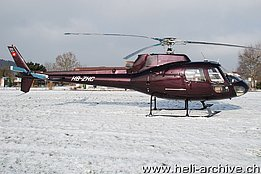 Sitterdorf/TG, January 2009 - The AS 350B Ecureuil HB-ZHC in service with Verein Helibiz (M. Vogt)