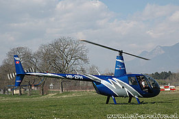 Bex/VD, March 2007 - The Robinson R-44 Raven II HB-ZFN in service with Heli-Alps (M. Bazzani)