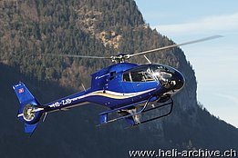 Mollis/GL, February 2011 - The EC 120B Colibrì HB-ZJB in service with Linth Air Service AG (B. Siegfried)