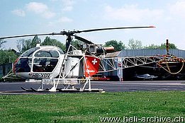 Belp/BE, May 1979 - The SA 315B Lama HB-XGV in service with Heliswiss (A. Heumann)