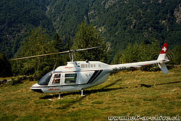 Ticino, 1990s - The Bell 206A/B Jet Ranger II HB-XXH in service with Eliticino (O. Colombi)