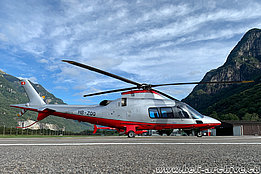 Lodrino/TI, August 2020 - The Agusta A109S HB-ZQQ in service with Karen SA (M. Bazzani)