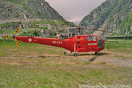 Andermatt/UR, July 1996 - The SA 316B Alouette 3 HB-XTX in service with Heliswiss (K. Albisser)