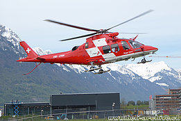 Wilderswil/BE, May 2019 - The AW 109SP Da Vinci HB-ZRR in service with Rega (M. Bazzani)