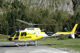 Lauterbrunnen/BE, October 2011 - The AS 350B3 Ecureuil HB-ZNA in service with Air Glaciers (M. Bazzani)