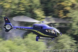 Mollis/GL, September 2013 - The EC 120B Colibrì HB-ZJB in service with Linth Air Service AG (M. Ceresa)