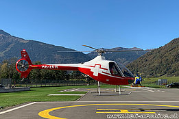 Balzers/FL, October 2019 - The Guimbal Cabri G2 HB-ZPH in service with Swiss Helicopter (M. Bazzani)