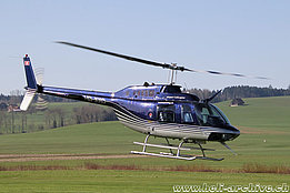 Beromünster/LU, April 2018 - The Bell 206B Jet Ranger III HB-XXO in service with Airport Helicopter AG (M. Ceresa)