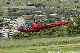 Sion/VS, July 2007 - The Enstrom 280FX Shark HB-ZFS belonging to Andreas Mettler (M. Bazzani)