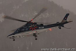 WEF Davos 2010/GR,  the Agusta A109S HB-ZHP in service with Swiss Jet AG (B. Siegfried)