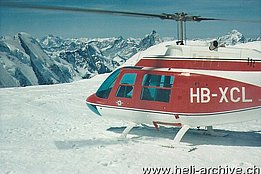 Valaisan Alps - The Agusta-Bell 206A Jet Ranger HB-XCL in service with Air Zermatt (HAB - G. Amann)