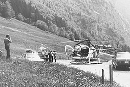 Glarus alps, 1970s - The SA 315B Lama HB-XFX in service with Air Grischa (family Kolesnik)