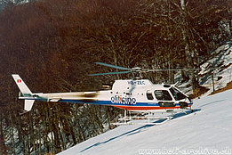 Mount Comino/TI, December 2005 - The AS 350B3 Ecureuil HB-ZEC in service with the Eliticino (M. Bazzani)