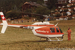 '70s - The Bell 206B Jet Ranger II HB-XFH in service with Heliswiss (P. Aegerter)