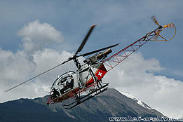 Sion/VS, July 2007 - The SA 315B Lama HB-XRL of Air Glaciers (M. Bazzani)