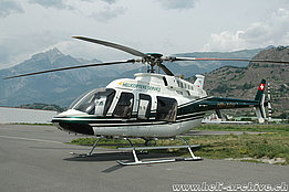 Sion/VS, July 2004 - The Bell 407 HB-XQV in service with Hélicoptère Service SA (K. Albisser)