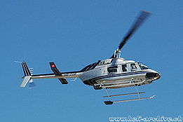 Zurich airport, July 2007 - The Bell 206L-3 Long Ranger III HB-ZGB in service with Skymedia AG (K. Albisser)