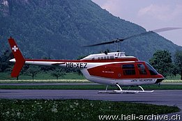 Mollis/GL - The Agusta-Bell 206B Jet Ranger II HB-XEZ in service with Linth Helikopter (A. Ackermann)