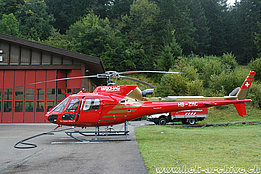 Gsteigwiler/BE, September 2012 - The AS 350B3 Ecureuil HB-ZMC in service with Bohag (M. Bazzani)
