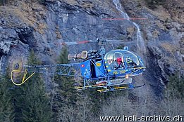 Lauterbrunnen/BE, January 2011 - The SA 315B Lama HB-ZGP in service with the Alpinlift Helikopter AG (O. Colombi)