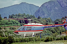 Agno/TI, July 1979 - The Agusta-Bell 206B Jet Ranger II HB-XFS in service with Eurotecnic Establishment (B. Acklin)