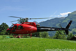 Amden/SG, June 2012 - The AS 350B3e Ecureuil HB-ZNB in service with Heli-Linth (T. Schmid)