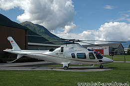Locarno airport/TI, May 2008 - The Agusta A109E Power Elite HB-ZIM in service with Skymedia AG (M. Bazzani)