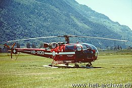 Bex/VD, May 2001 - The SA 316B Alouette III HB-XQD in service with Hélicoptère Service (M. Bazzani)