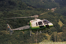 Balzers/FL, June 1998 - The AS 350B2 Ecureuil HB-XQR in service with Rhein-Helikopter AG (M. Bazzani)