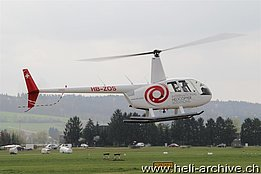 Grenchen/SO, April 2014 - The Robinson R-44 Raven II HB-ZOS in service with Helitrans AG (M. Ceresa)