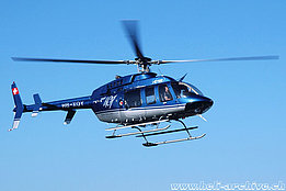 Buttwil/AG, October 2005 - The Bell 407 HB-XQY in service with CHS Central Helicopter (K. Albisser)