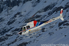 Laubernhorn ski race/BE, January 2011 - The AS 350B3 Ecureuil HB-ZGI in service with Air Grischa Helikopter AG (B. Siegfried)
