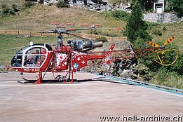 Zermatt/VS, September 2000 - The SA 315B Lama HB-XXE in service with Air Zermatt (H. Zurniwen)