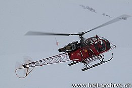 Lauberhorn ski race, January 2014 - The SA 315B Lama HB-ZHZ in service with Air Glaciers (O. Colombi)