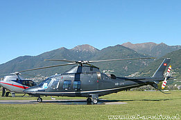 Locarno airport/TI, September 2011 - The Agusta AW109SP HB-ZPX in service with Skymedia AG (M. Bazzani)