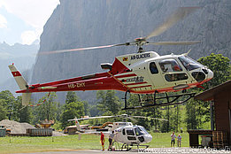 Lauterbrunnen/BE, luglio 2015 – The AS 350B3 Ecureuil HB-ZHY in service with Air Glaciers (M. Ceresa)