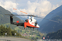 Airolo/TI, September 2016 - The Kaman K-1200 K-Max HB-ZIH in service with Rotex Helicopter AG (M. Ceresa)