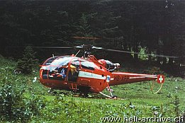 The HB-XFF SA 319B Alouette III in service with BOHAG (archive M. Burkhard)