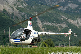 June 2010 - The Robinson R-22HP HB-XZE photographed near Flums/SG (M. Bazzani)