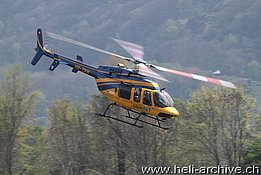 Locarno airport/TI, March 2014 - The Bell 407GX HB-ZNW in service with Alpinlift (O. Colombi)